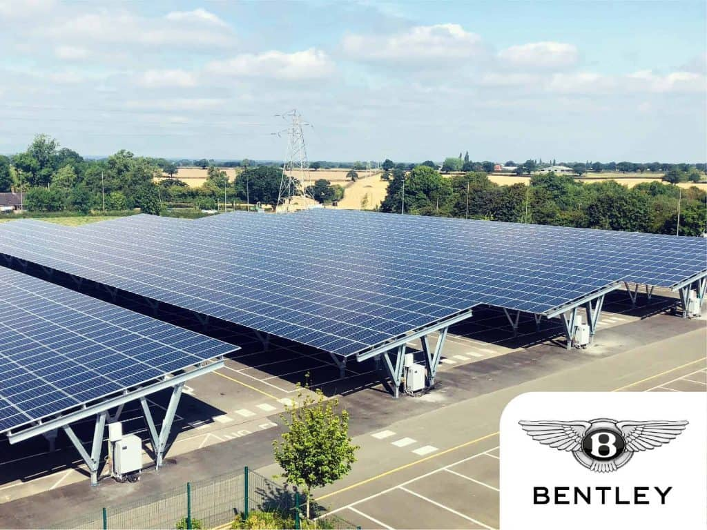 Case studies - Bentley Motors solar car park
